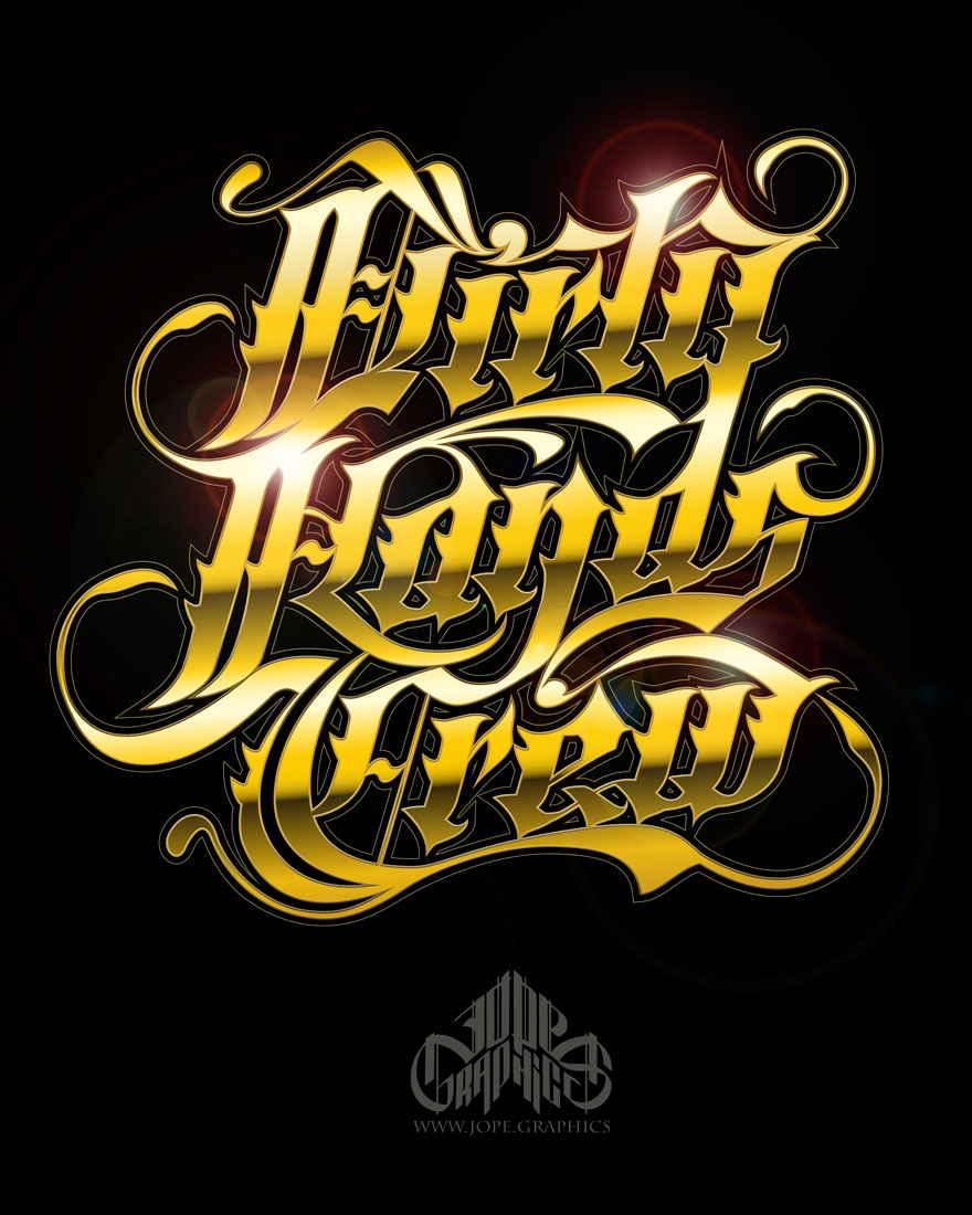 Lettering para Dirty Hands Crew